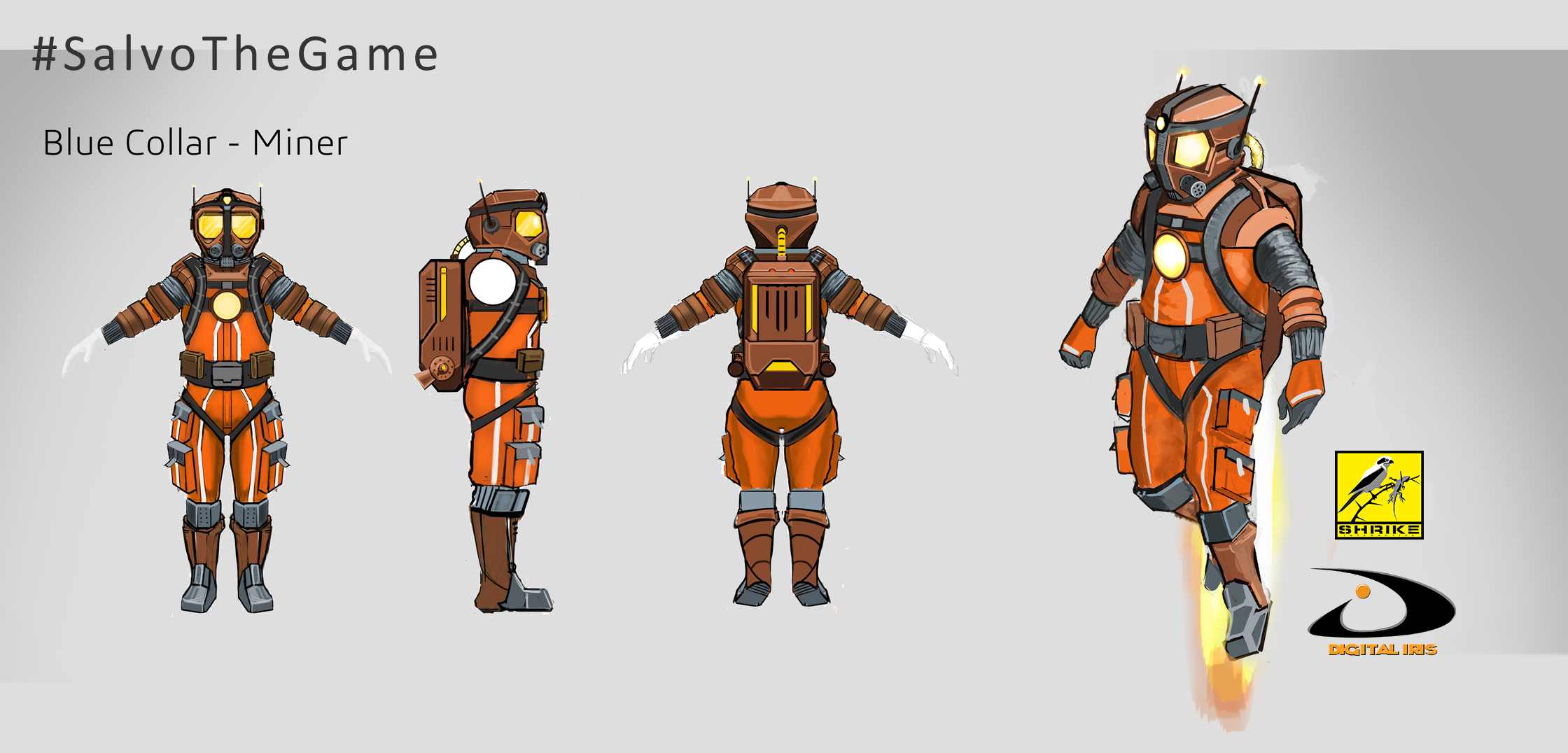 Salvo Blue Collar Miner Character Concepts