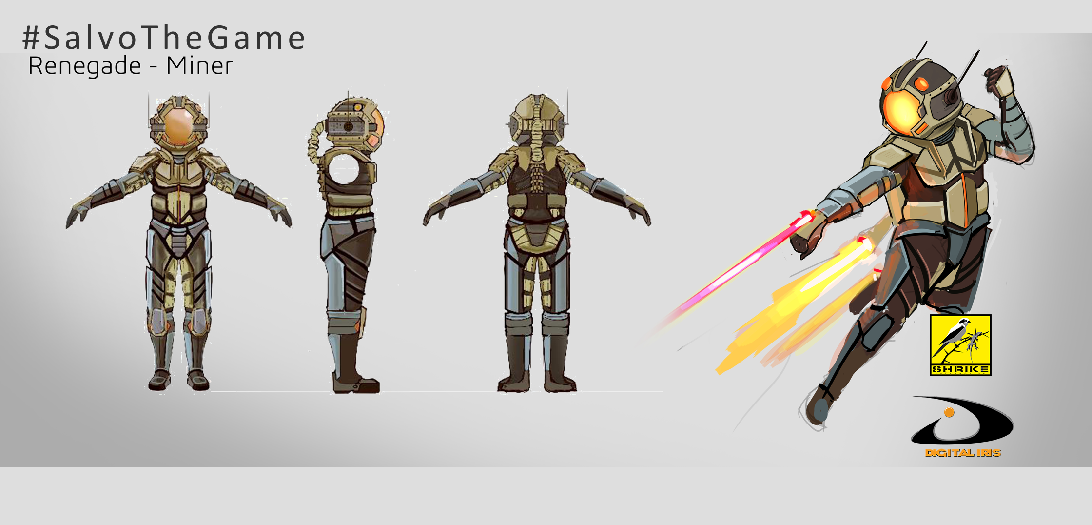 Renegade Miner Character Concepts