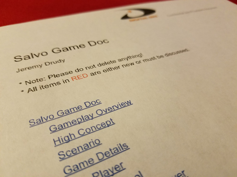 Game Design - High concept document game design