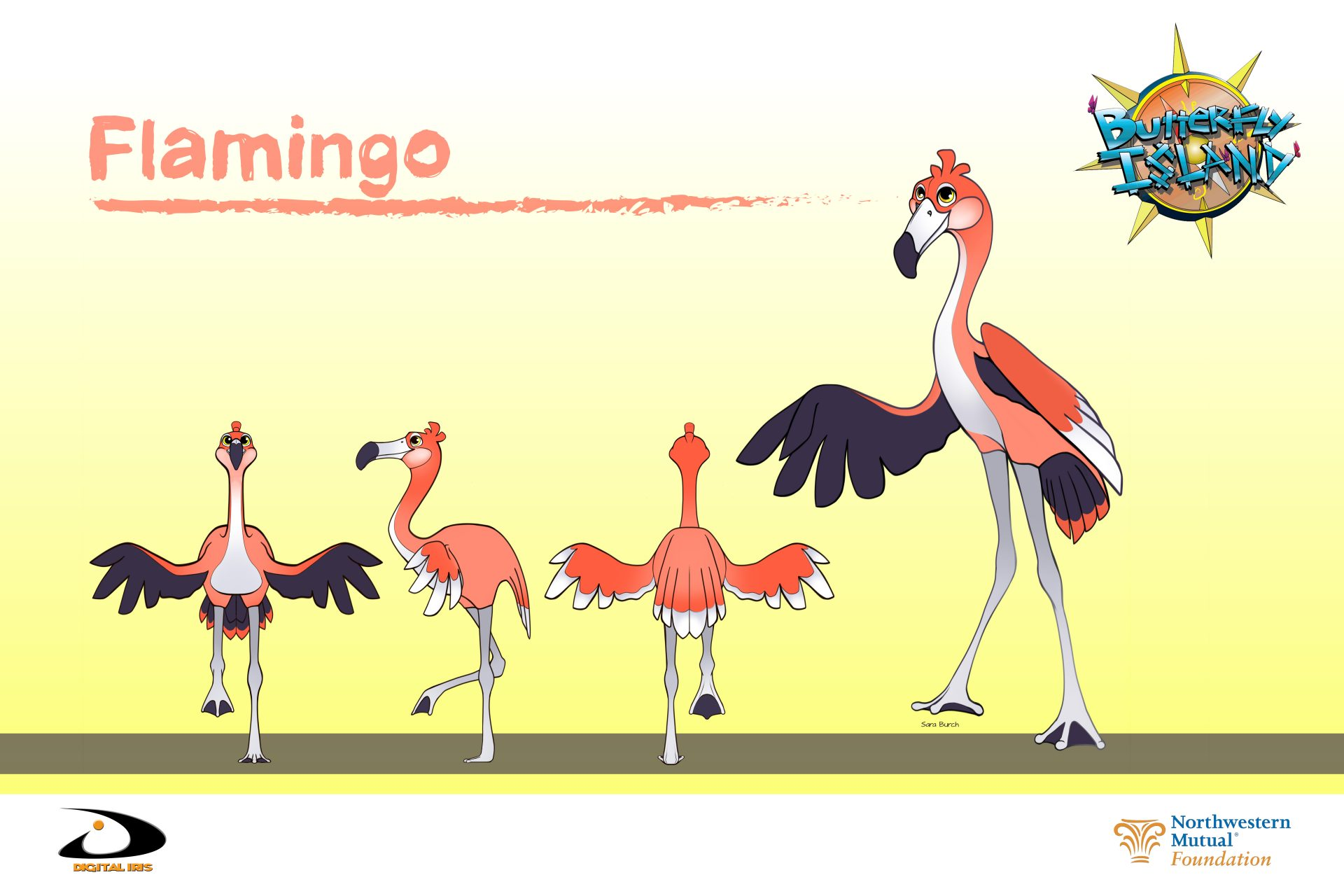 ButterflyIsland Poster FLAMINGO